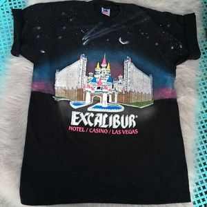 VTG Excalibur Las Vegas graphic tee castle